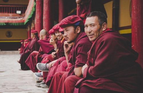 Buddhist Monks in Mcleodganj